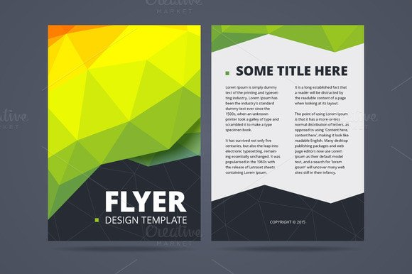 Double Sided Brochure Template Two Sided Flyer Design Template Flyer Templates On
