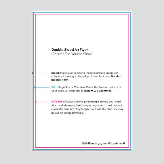 Double Sided Brochure Template Virtual Print Digital Printers Hamilton