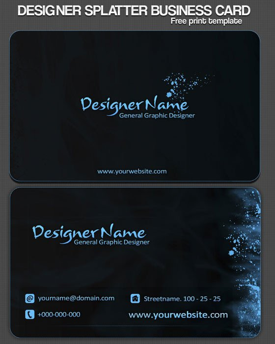 Download Business Cards Templates 40 Best Free Business Card Templates In Psd File format
