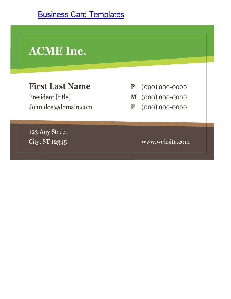 Download Business Cards Templates 43 Free Business Card Templates Free Template Downloads