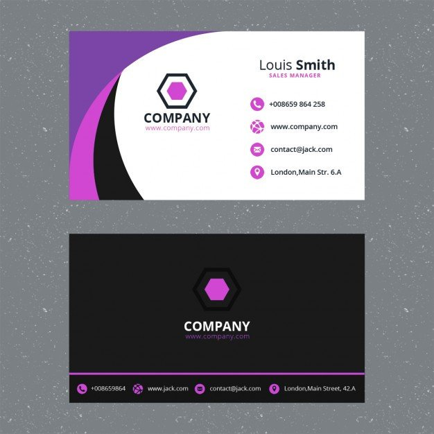 Download Business Cards Templates Purple Business Card Template Psd File