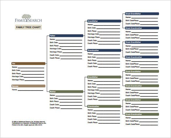 Download Family Tree Template Family Tree Chart Template – 11 Free Sample Example