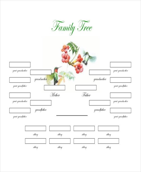 Download Family Tree Template Family Tree Template 8 Free Word Pdf Document