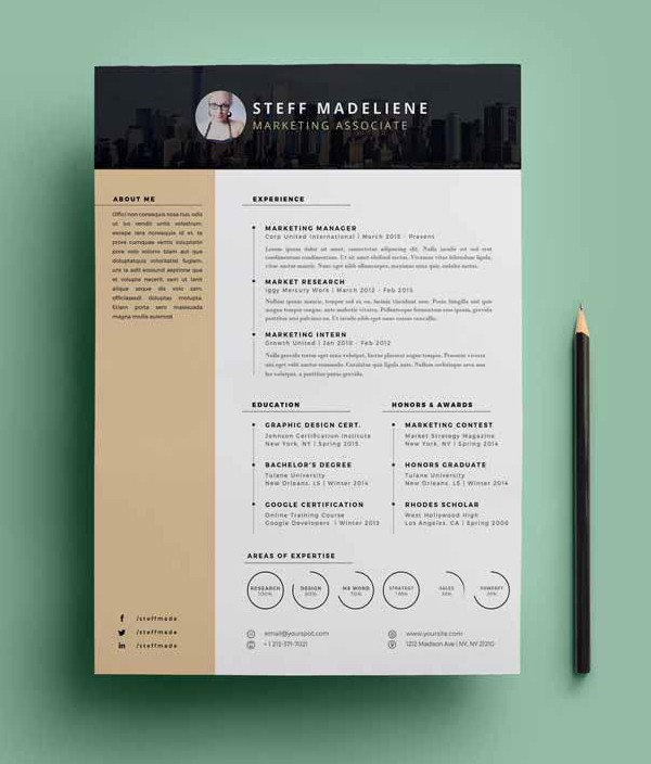 Download Free Resume Template 20 Free Cv Resume Templates & Psd Mockups
