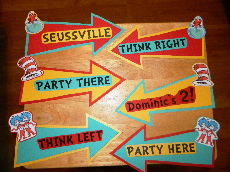 Dr Seuss Arrows Free Printables Dr Seuss Party Arrows