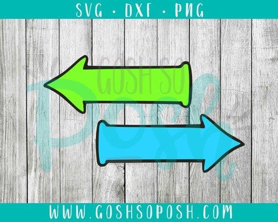 Dr Seuss Arrows Free Printables Right Left Arrows Svg Png Dxf Dr Suess Outlined Cricut