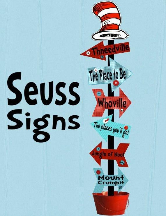 Dr Seuss Arrows Free Printables Seuss Signs Arrows Decoration Printable Digital by