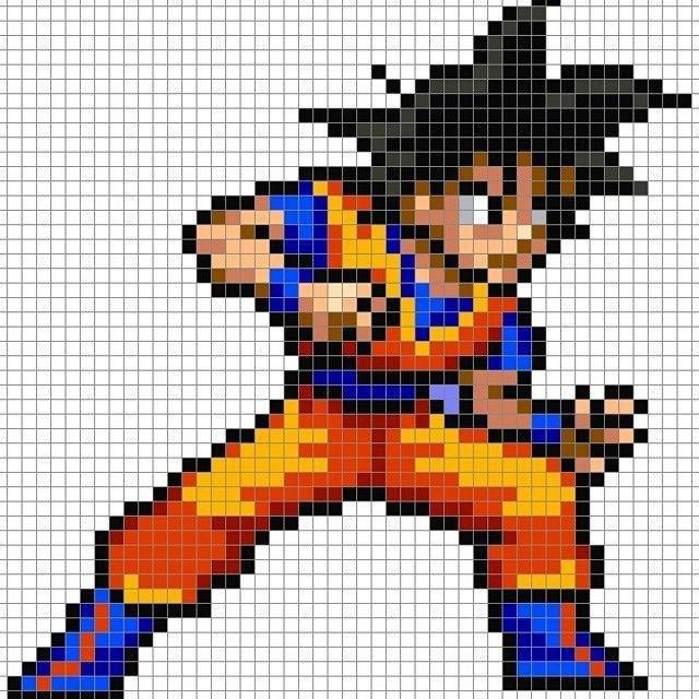 Dragon Pixel Art Grid Dbz Goku Perler Pixel Pattern by 8bitofeverything Visit