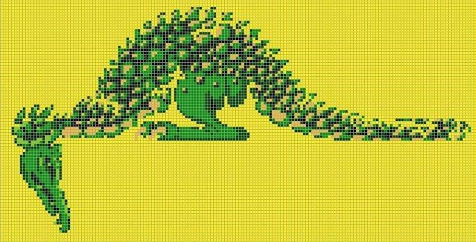 Dragon Pixel Art Grid Pixelartnes