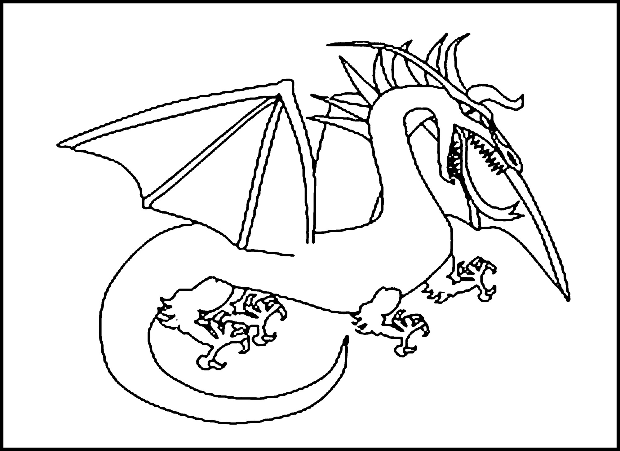 Dragon Tracing Pictures Dragon Coloring Pages Printable