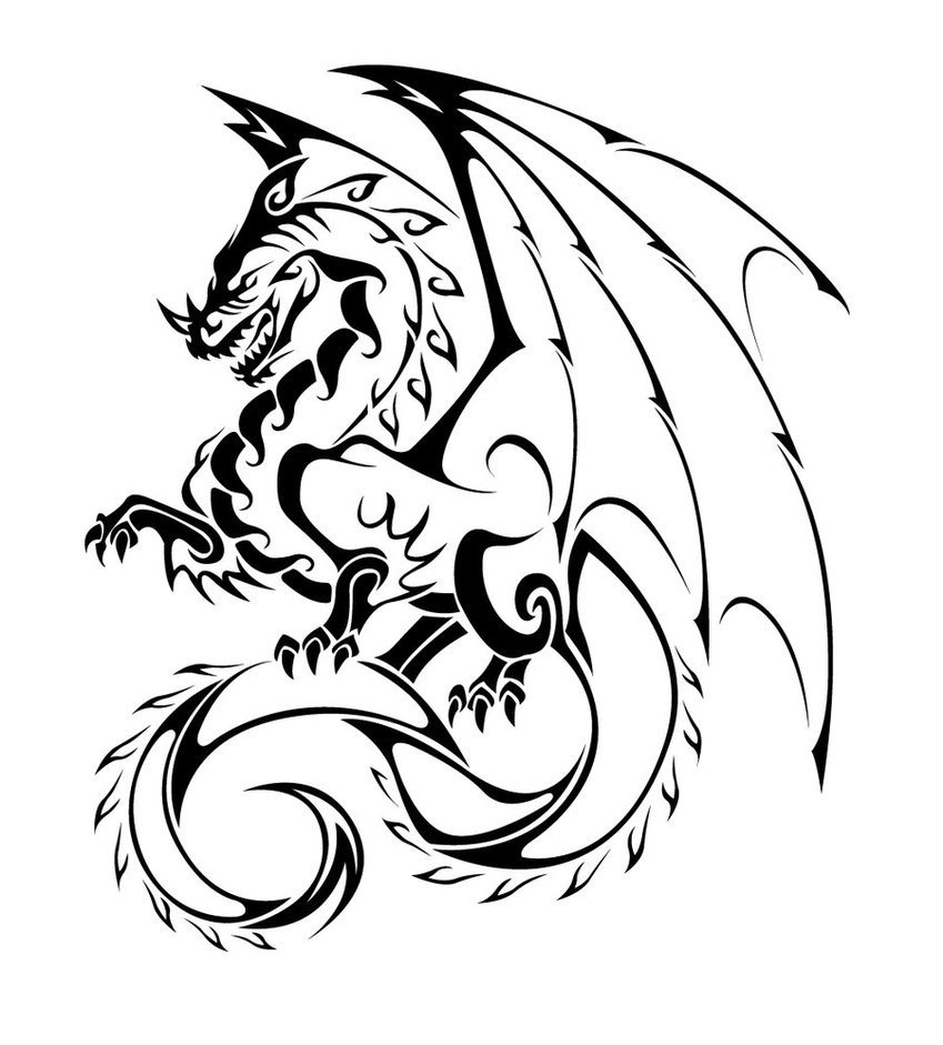 Dragon Tracing Pictures Dragon to Trace Clipart Best