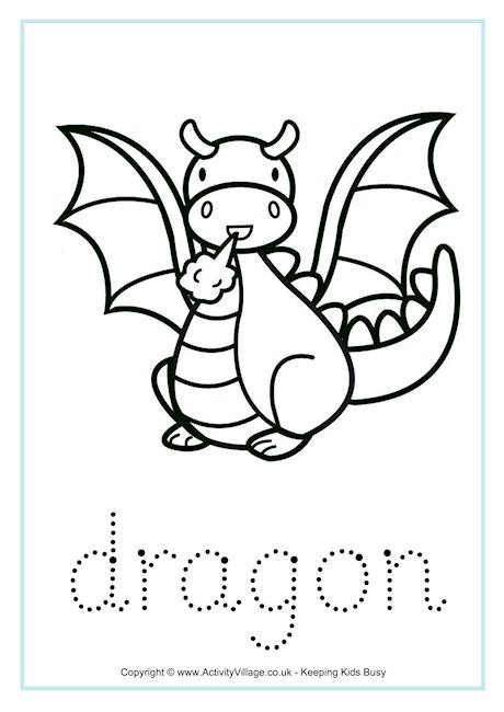 Dragon Tracing Pictures Dragon Word Tracing
