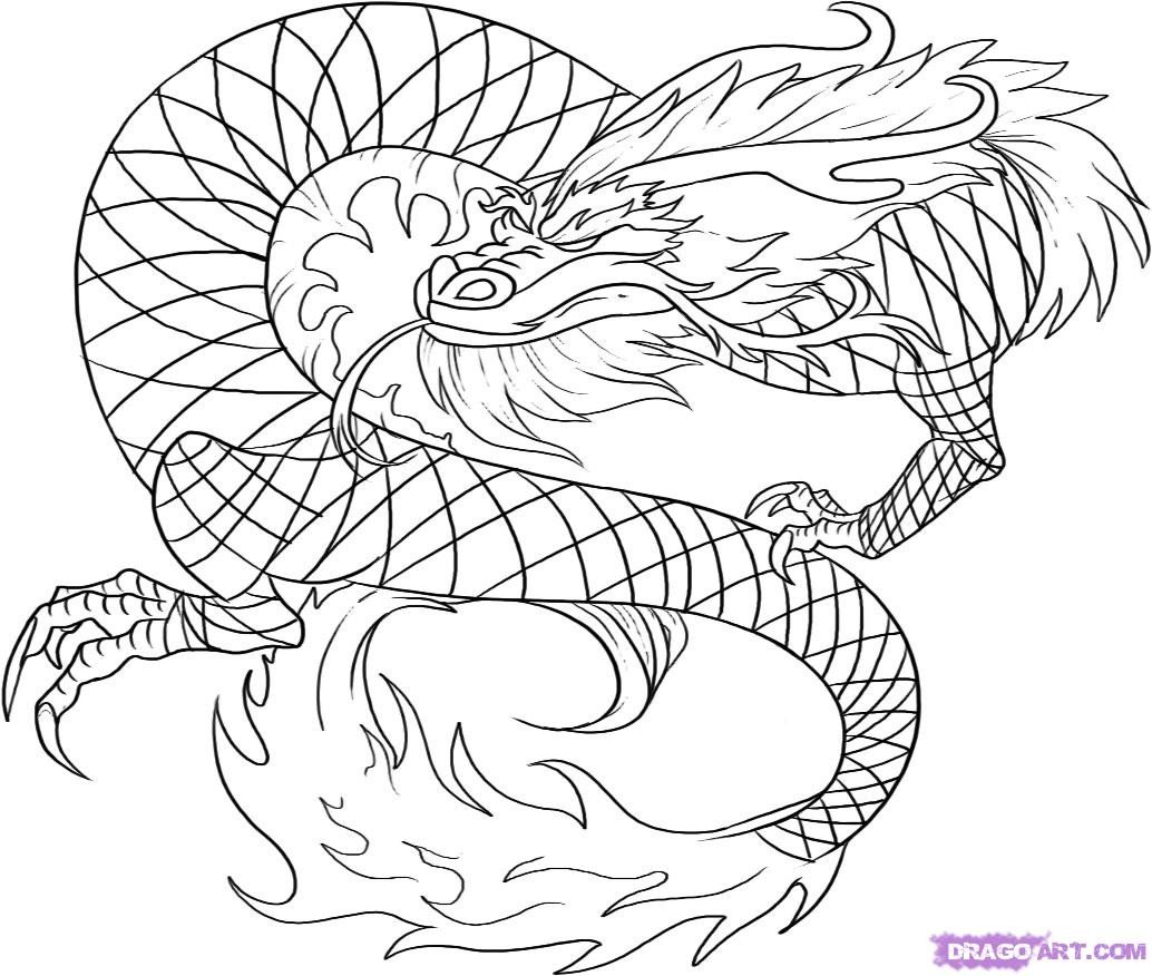 Dragon Tracing Pictures Drawn Chinese Dragon Trace Pencil and In Color Drawn