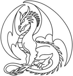 Dragon Tracing Pictures Easy Traceable Dragon Drawings Sketch Coloring Page
