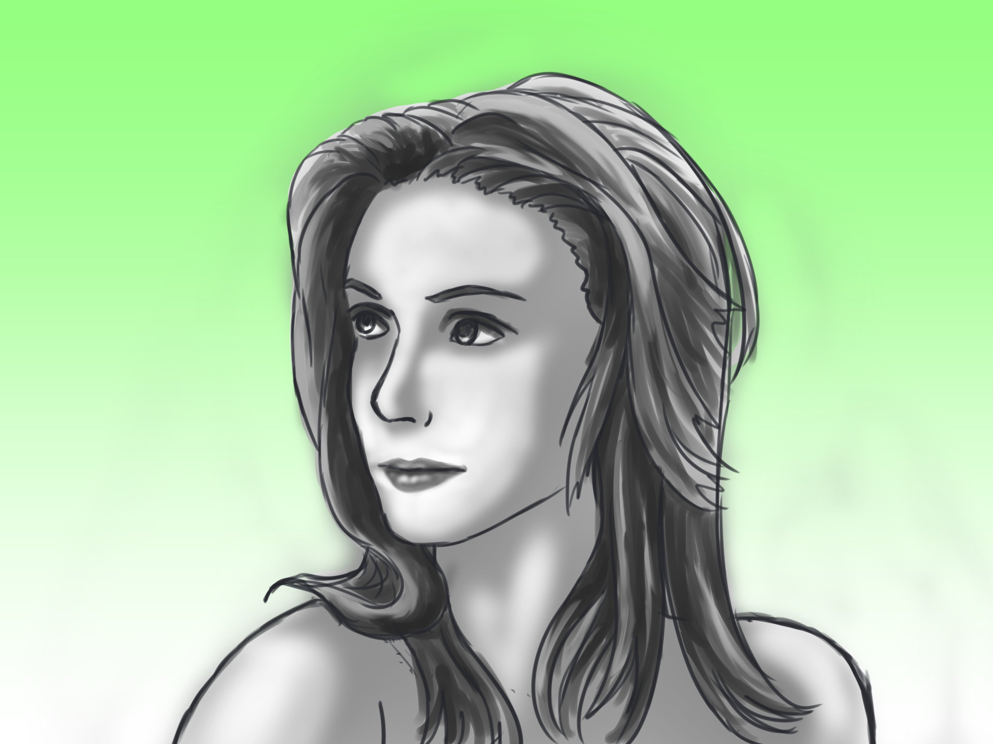Drawn Pictures Of Girls How to Draw A Portrait Of A Woman with Wikihow