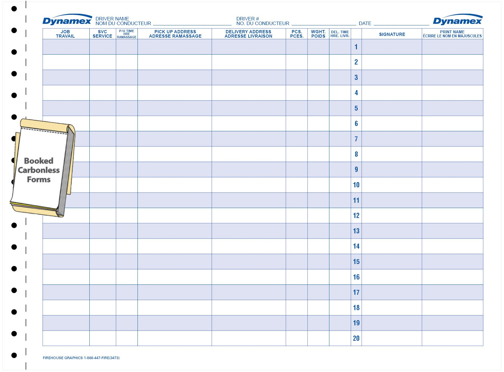 Driver Manifest Template 7 Of Truckers Manifest Template