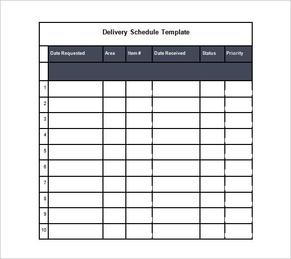 Driver Manifest Template Trucking Schedule Template Joselinohouse