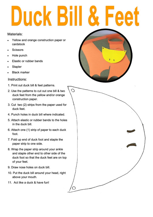 Duck Foot Template 6 Duck Templates Free to In Pdf