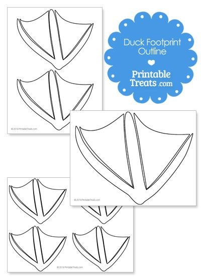 Duck Foot Template Printable Duck Footprint Template