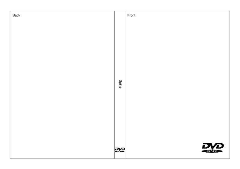 Dvd Cover Template Word Dvd Case Template