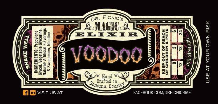 E Juice Bottle Label Template Dr Picnic S Magic Elixir