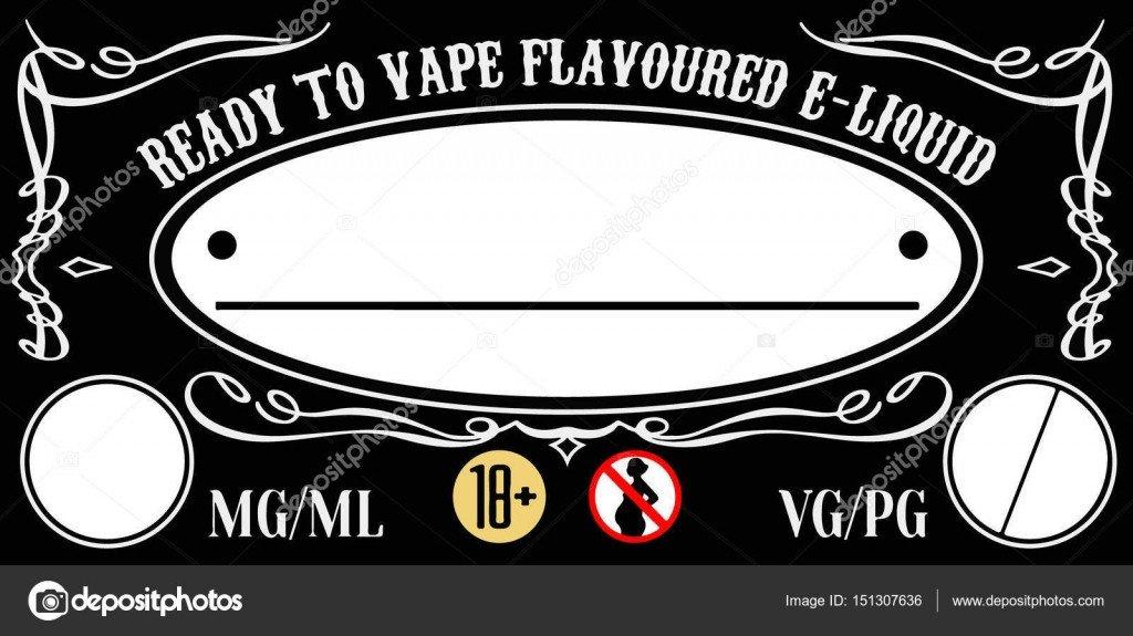 E Juice Bottle Label Template Vape E Liquid E Juice Label Sticker Template for Bottle