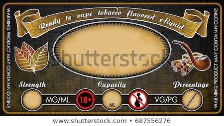 E Juice Bottle Label Template Vape Ecigarettes Universal Template Label Bottle Stock