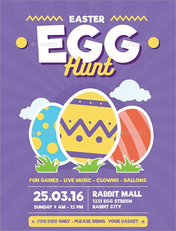 Easter Egg Hunt Flyer 29 event Flyer Templates Download