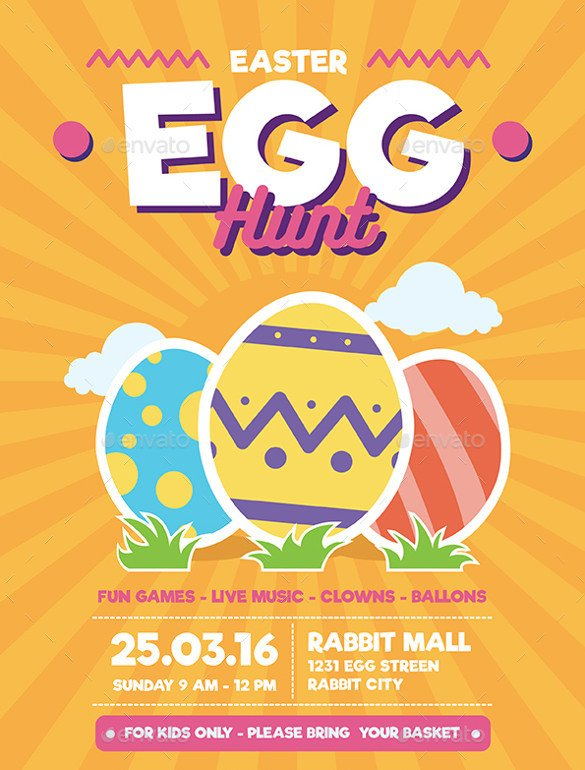 Easter Egg Hunt Flyer 31 Easter Flyers Free Psd Ai Vector Eps format