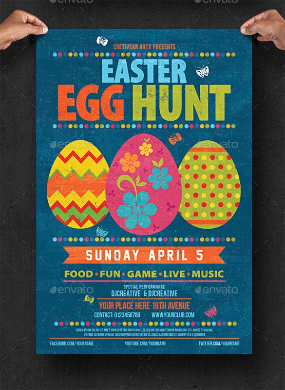 Easter Egg Hunt Flyer 38 Easter Egg Templates