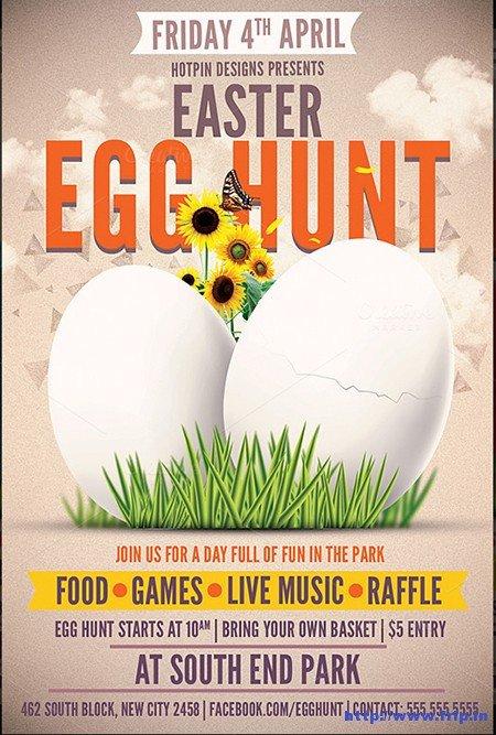 Easter Egg Hunt Flyer 70 Best Easter Party Flyer Print Templates 2016