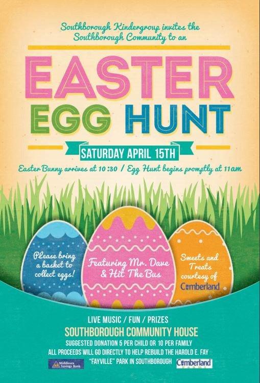 Easter Egg Hunt Flyer Annual Easter Egg Hunt On April 15 – to Benefit Fayville