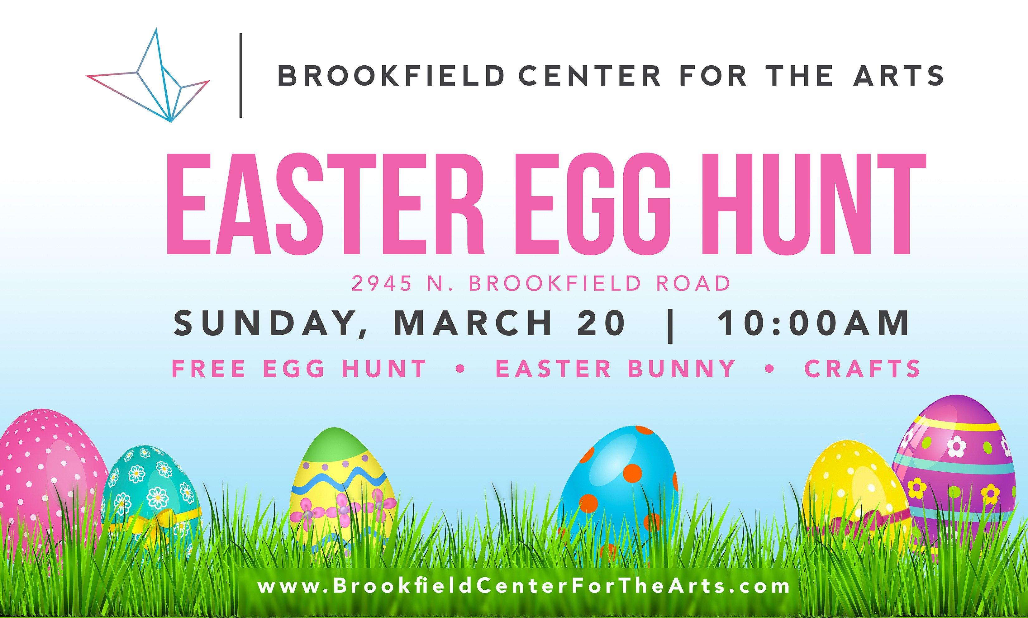 Easter Egg Hunt Flyer Brookfield Center for the Artsbrookfield 2016 Easter Egg