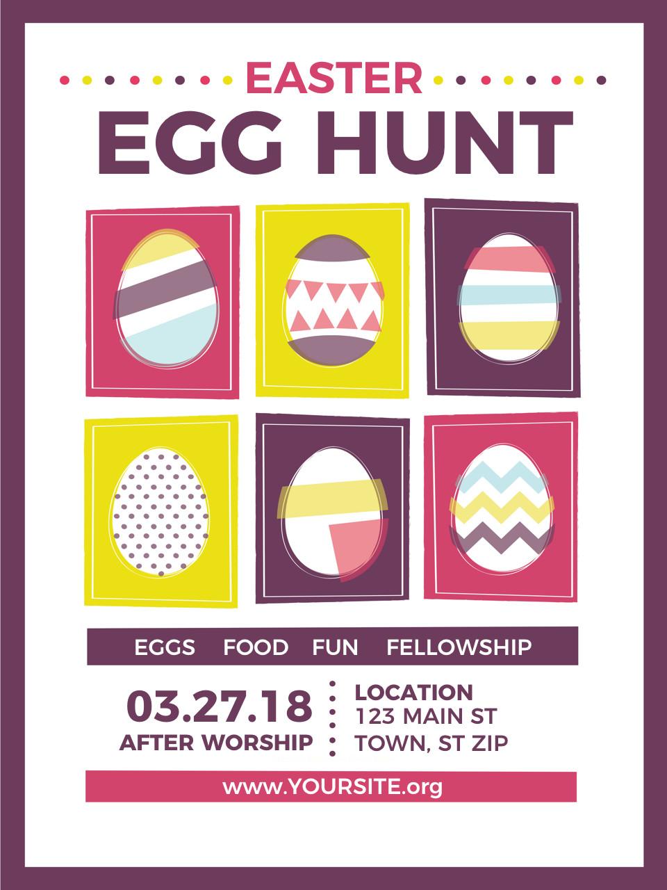 Easter Egg Hunt Flyer Church Easter Egg Hunt Flyer
