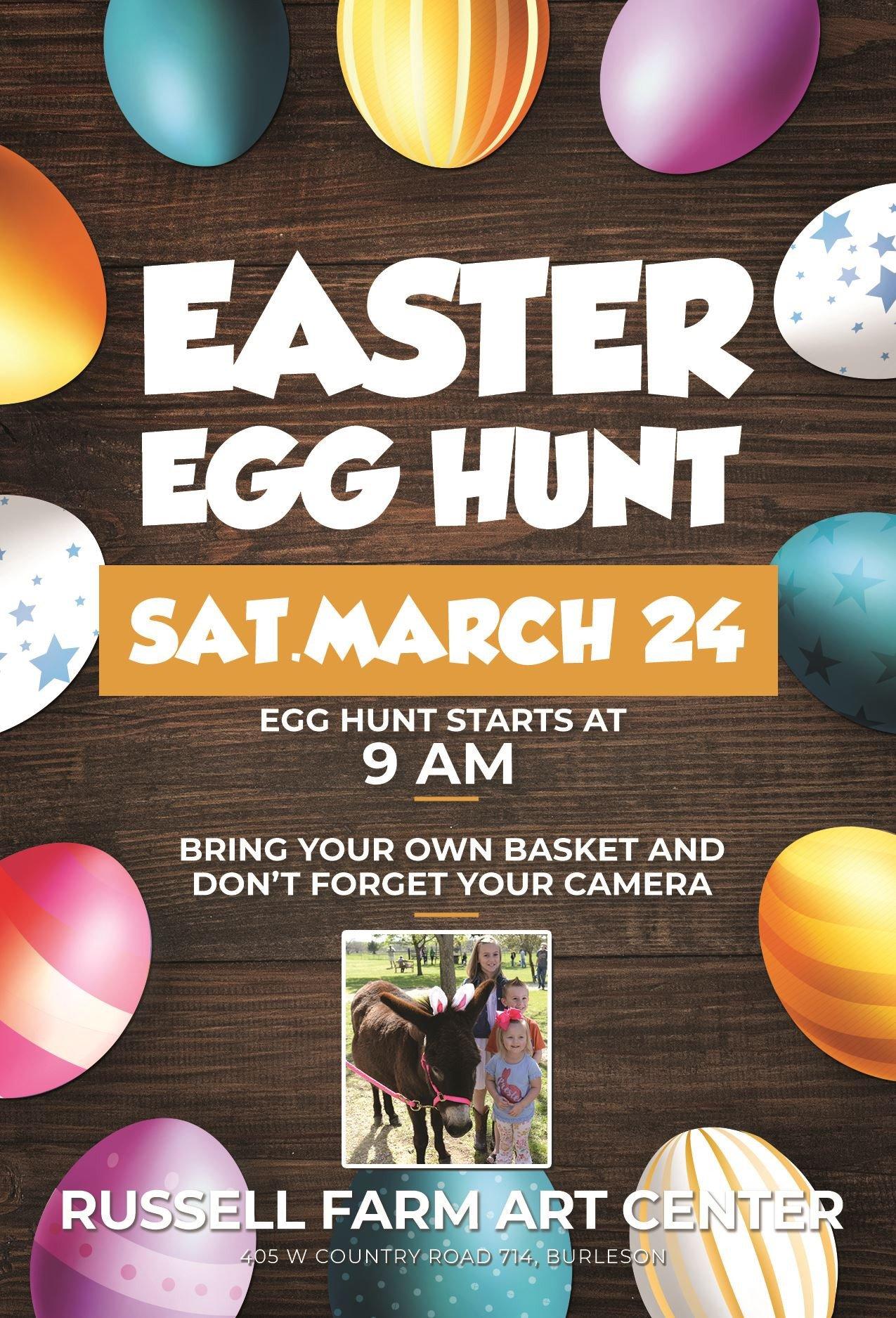 Easter Egg Hunt Flyer Easter Egg Hunt at Russell Farm