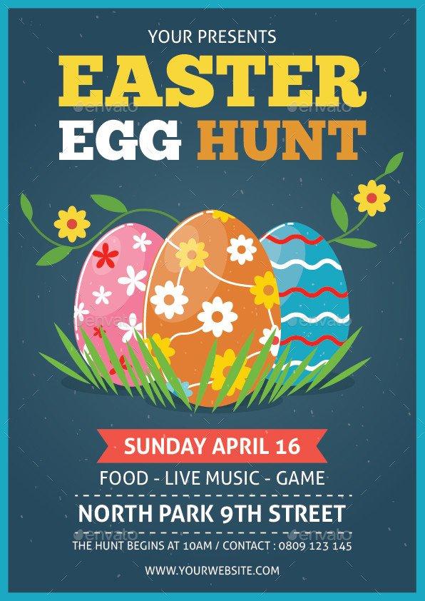 Easter Egg Hunt Flyer Easter Egg Hunt Flyer by Bonezboyz9