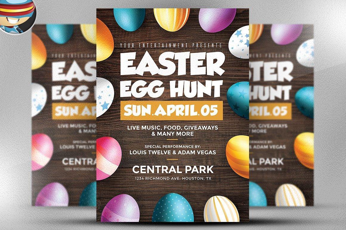 Easter Egg Hunt Flyer Easter Egg Hunt Flyer Template Flyer Templates