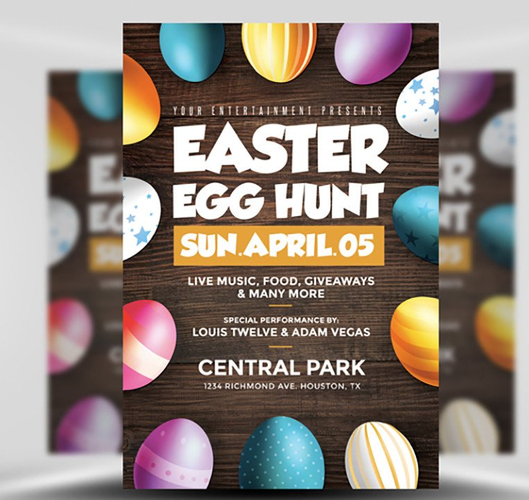 Easter Egg Hunt Flyer Easter Egg Hunt Flyer Template Flyerheroes