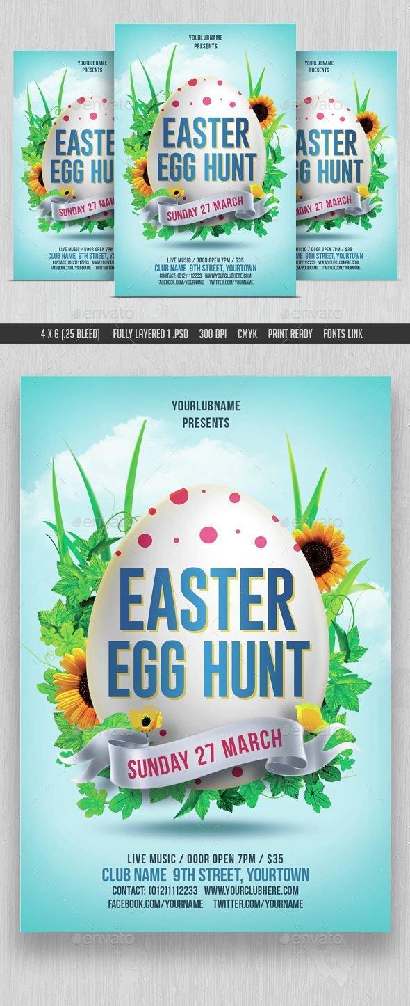 Easter Egg Hunt Flyer Easter Egg Hunt Flyer Template