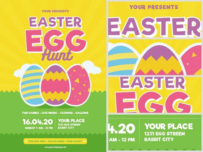 Easter Egg Hunt Flyer Easter Egg Hunt Flyer Template V3 Flyerheroes