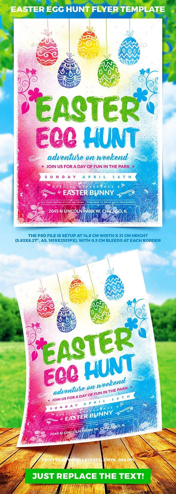 Easter Egg Hunt Flyer Easter Egg Hunt Flyer Template Vol 1 by 4ustudio