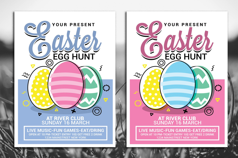 Easter Egg Hunt Flyer Easter Egg Hunt Flyer Templates Creative Market
