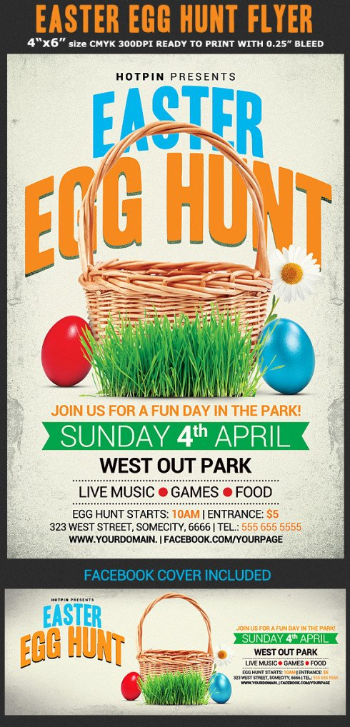Easter Egg Hunt Flyer Easter Egg Hunt