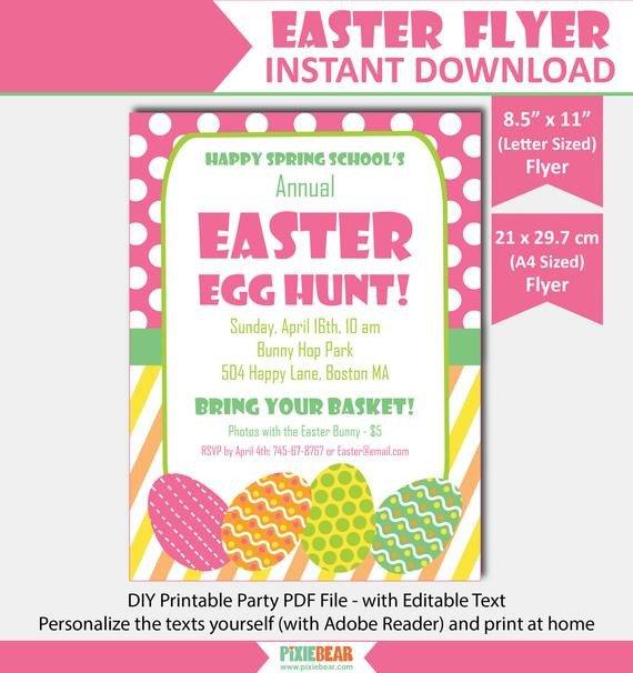 Easter Egg Hunt Flyer Easter Flyer Easter Egg Hunt Flyer Easter Party Flyer