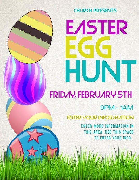 Easter Egg Hunt Flyer Easter Template