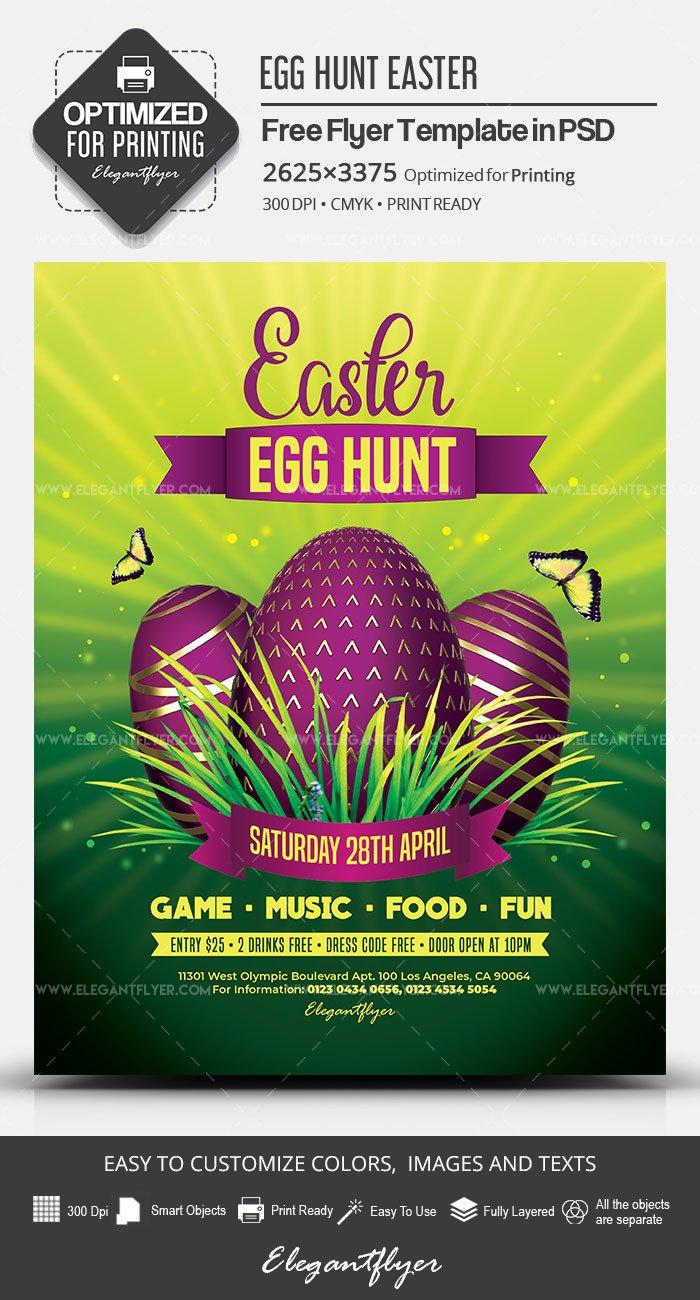 Easter Egg Hunt Flyer Egg Hunt Easter – Free Flyer Psd Template – by Elegantflyer