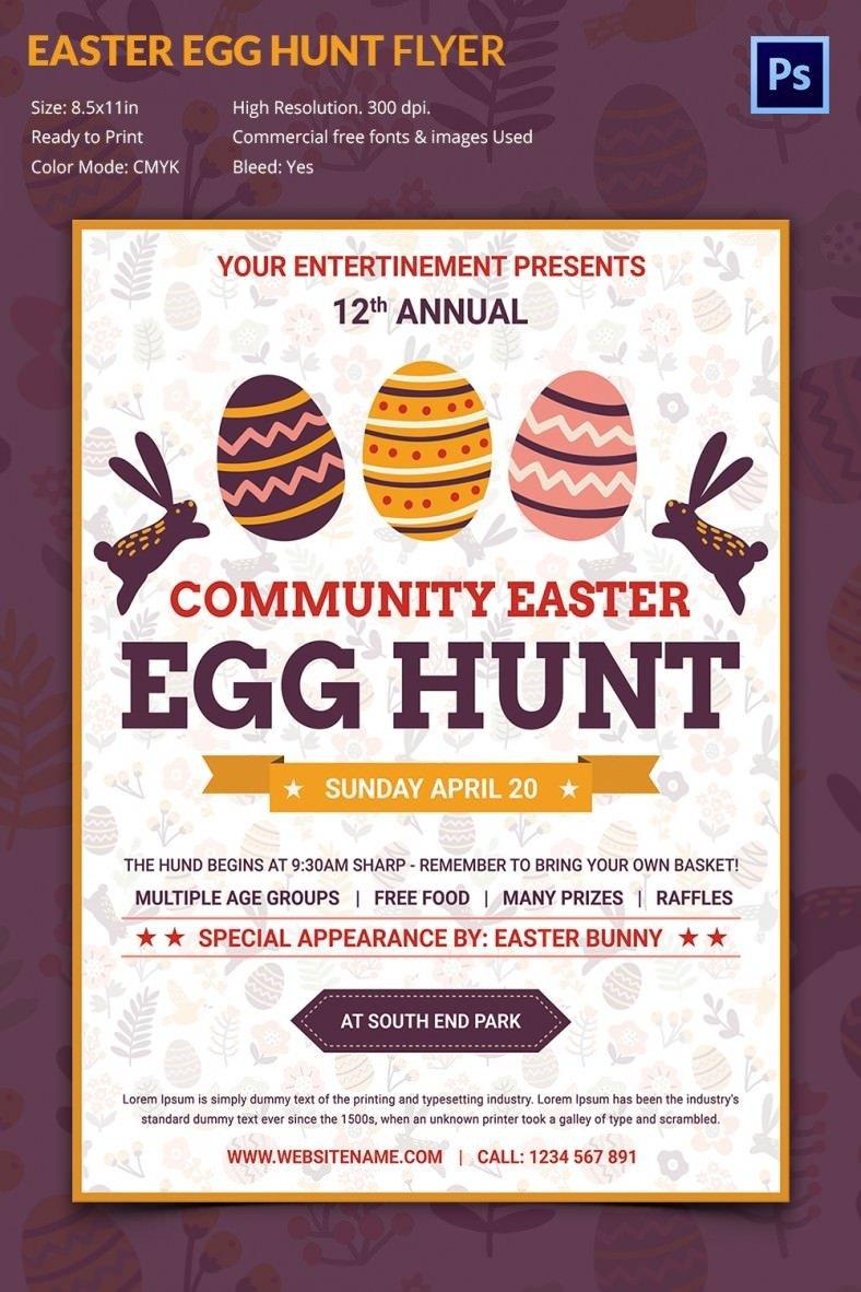 Easter Egg Hunt Flyer Excellent Easter Egg Hunt Flyer Template