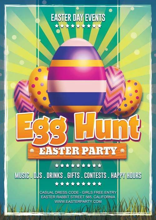 Easter Egg Hunt Flyer Free Download Easter Day Egg Hunt Psd Flyer Template