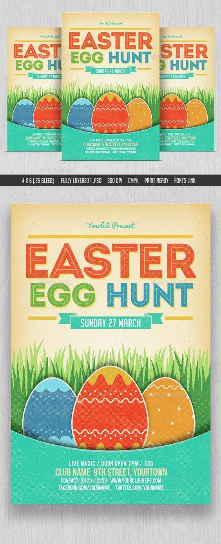 Easter Egg Hunt Flyer Pinterest • the World's Catalog Of Ideas