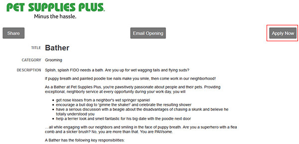 Easy Pickins Job Application Pet Supplies Plus Web 7